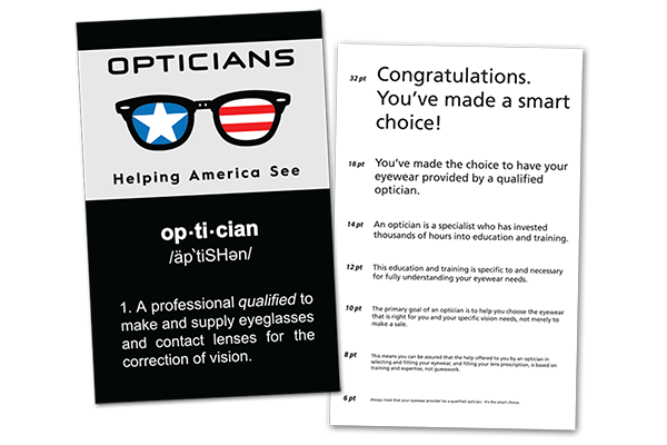 Helping America See Vision Card for print