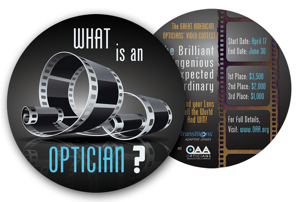 Original WHAT IS AN OPTICIAN? contest flyer